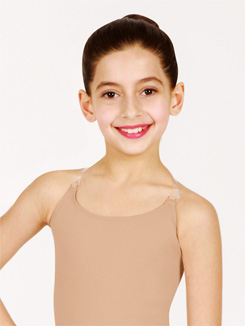 Child Camisole Leotard w/See-Through Straps 