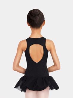 Girls Open Back Eyelet Tank Dress