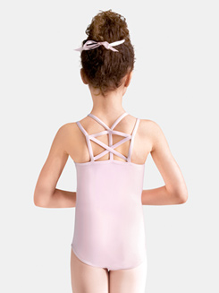 Girls Geometric Back Camisole Leotard
