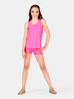 Girls Moisture Wicking Elastic Waist Shorts