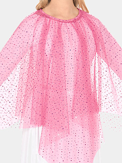 Girls Worship Metallic Tulle Handkerchief Skirt