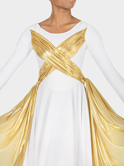 Adult Metallic Overlay Dress 