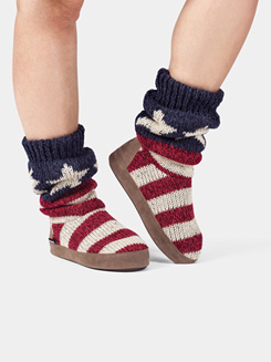 Adult American Flag Knit Boots