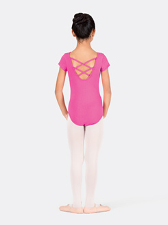 Girls Trestle Back Short Sleeve Dance Leotard