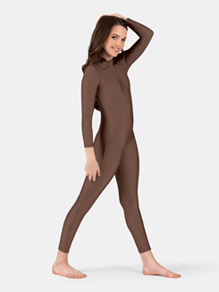 Child Long Sleeve Mock Neck Unitard