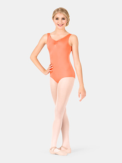 Girls Pinch Back Tank Leotard