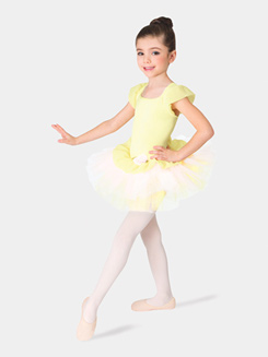 Girls Ruffle Sleeve Peplum Tutu Dress