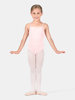 Girls Rhinestone Buckle Camisole Leotard