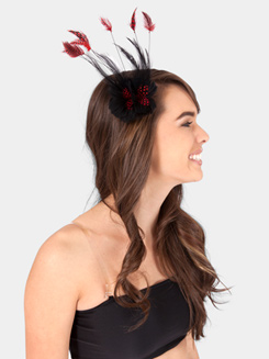 Double Feather Flower Hair Clip