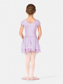 Child Elasticized Waist Hologram Dot Skirt