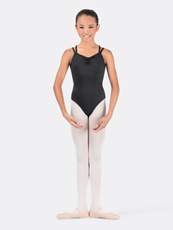 Girls Pinch Front Leotard with Crisscross Back