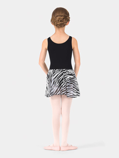 Child Elasticized Waist Zebra Print Skirt