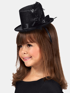 Metallic Top Hat Headbands 1 Dozen