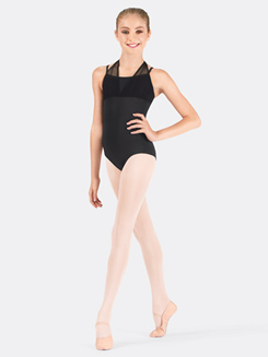 Girls Halter Mesh Leotard