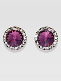 20MM Crystal Post Earrings