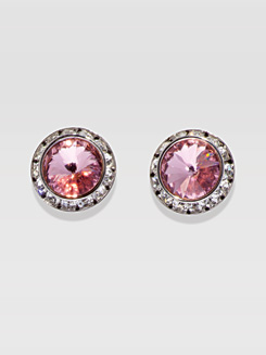 15MM Crystal Post Earrings 