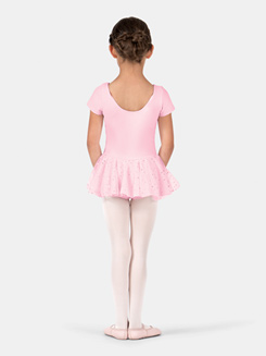 Child Cap Sleeve Hologram Dot Dress