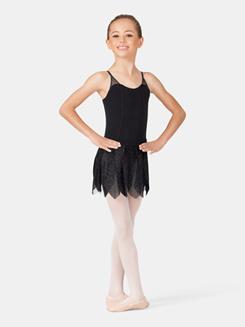 Girls Glitter Petal Pull-On Skirt