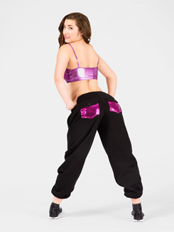 Metallic Pocket Adult Sweatpant 