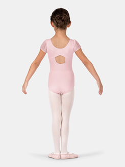Child Mesh Puff Sleeve Leotard