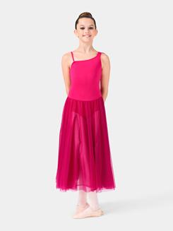Girls Cowl Back Asymmetrical Dress