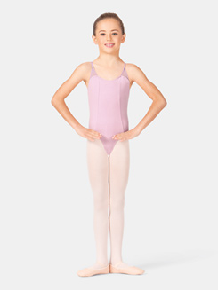 Girls Pinch Strap Tank Leotard