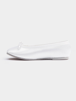 Girls Full Sole Satin Ballet Flat