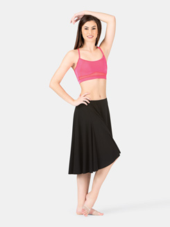 Adult Hi-Lo Elastic Waistband Skirt