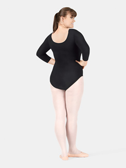 Adult Plus Size 3/4 Sleeve Dance Leotard