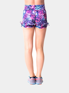 Teen Printed Side Cinch Dance Shorts