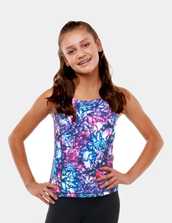 Teen Printed Strappy Camisole Top