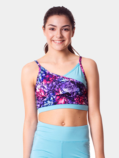 Teen Printed 2-in-1 Camisole Bra Top