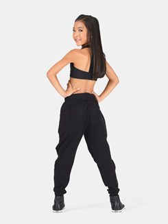Girls Zipper Harem Sweat Pant