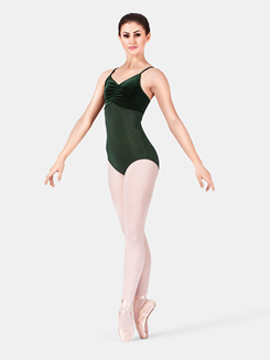 Adult Velvet Two Tone Camisole Leotard