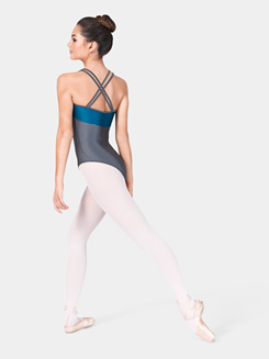 Two-Tone Strappy Back Camisole Leotard