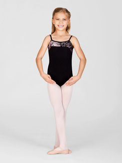 Child Floral Camisole Leotard 