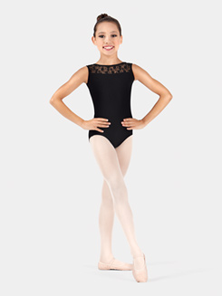 Girls Lace Tank Leotard