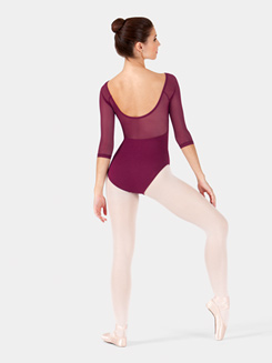 Adult Velvet 3/4 Sleeve Leotard