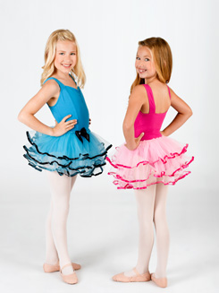 Child Three Layer Tutu Skirt with Ribbon Edge
