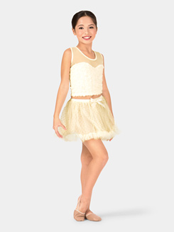 Child Glitter Dot Ruffle Hem Tutu