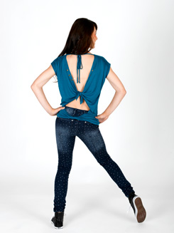 Open Back Tie Top with Grommets 