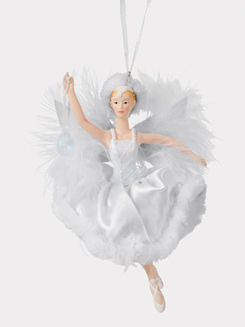 Porcelain Feather Ballerina Ornament