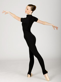 Adult Mock Turtleneck Short Sleeve Unitard 