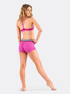 Girls Mini Stripe T-Back Halter Bra Top
