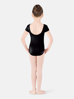 Girls Swirl Tulle Cap Sleeve Leotard