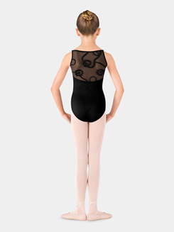 Girls Swirl Tulle Camisole Leotard