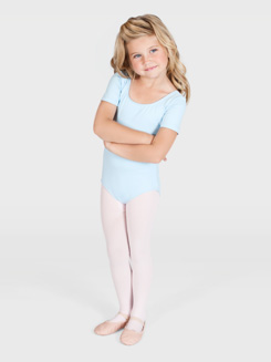 Girls Short Sleeve Leotard