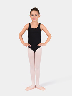Girls Swirl Tulle Tank Leotard