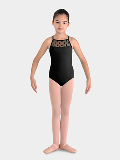 Girls Camisole Leotard with Daisy Mesh