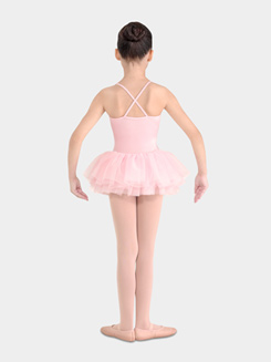 Girls Camisole Leotard with Attached Tutu